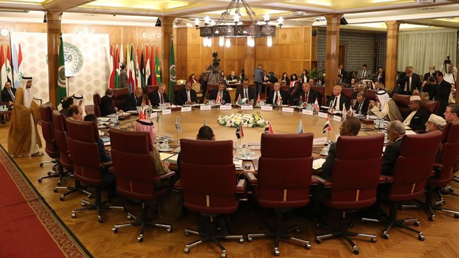 Representatives of the Arab League states attend an emergency meeting in Cairo on October 12, 2019. AFP