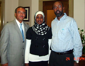 Mayor Coleman, Ilhan and her father Abukar